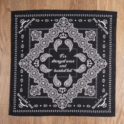 Pike Brothers 1947 Logo Bandana Black