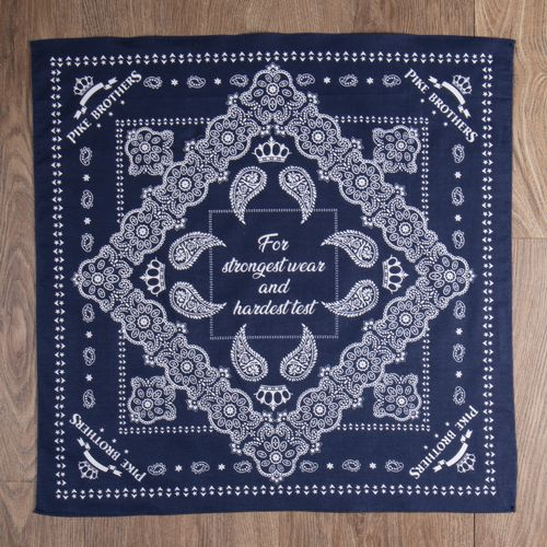 Pike Brothers 1947 Logo Bandana Blue