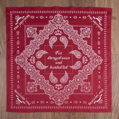 Pike Brothers 1947 Logo Bandana Red
